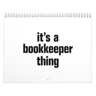 its a bookkeeper thing calendar