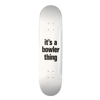 its a bowler thing custom skateboard