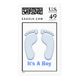 It's A Boy 2 Postage Stamp