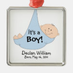 It's a Boy! Announcement Metal Ornament