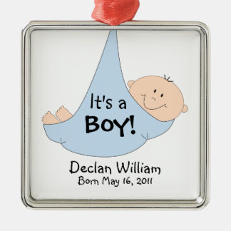 It's a Boy! Announcement Christmas Tree Ornaments