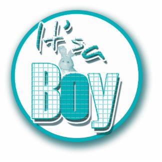 It's a boy announcement standing photo sculpture