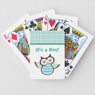 It's a Boy Baby Announcement Playing Cards