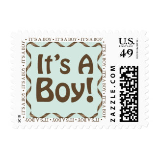 It's A Boy Baby Announcement Postage Stamp