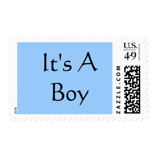 It's A Boy Baby Announcement Postage Stamps Shower