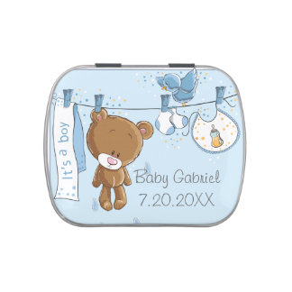 It's a Boy Baby Bear  Jelly Belly Candy Tin