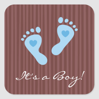 Its a boy! - Baby boy blue footprints stickers
