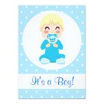 """It's a Boy Baby Boy Design 5"""" X 7"""" Invitation Card"""