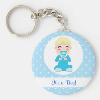 It's a Boy Baby Boy Design Basic Round Button Keychain
