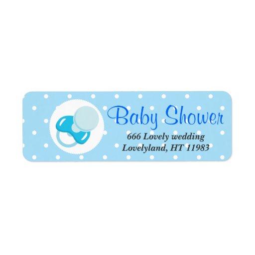 It's a Boy Baby Boy Design Custom Return Address Label