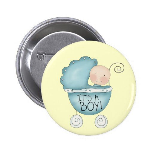 It's a Boy! baby carriage Pinback Buttons