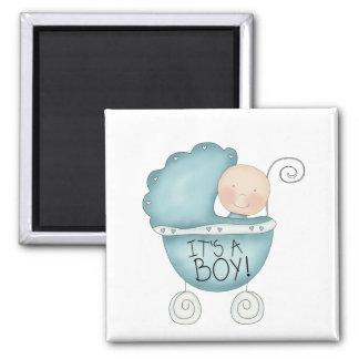 It's a Boy! Baby Carriage Fridge Magnet