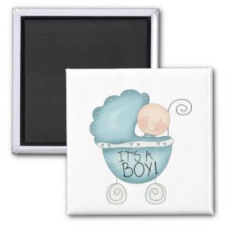 It's a Boy! Baby Carriage Fridge Magnet