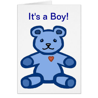 It's a boy - baby congratulations and welcome greeting cards