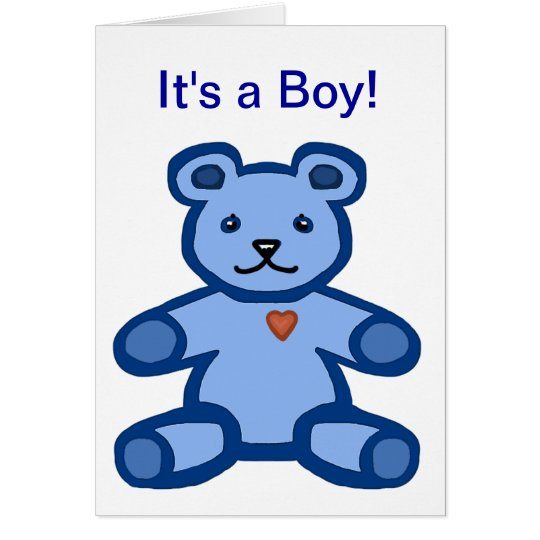 It's a boy - baby congratulations and welcome card