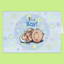 It's a Boy - Baby Congratulations! card