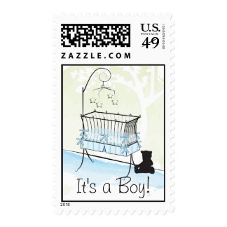 It's a Boy - Baby Crib Stamp