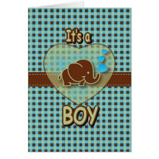 It's A Boy | Baby Elephant Stationery Note Card