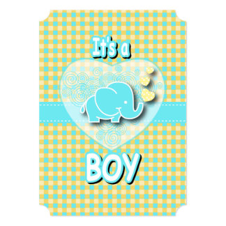 It's A Boy | Baby Elephant Card