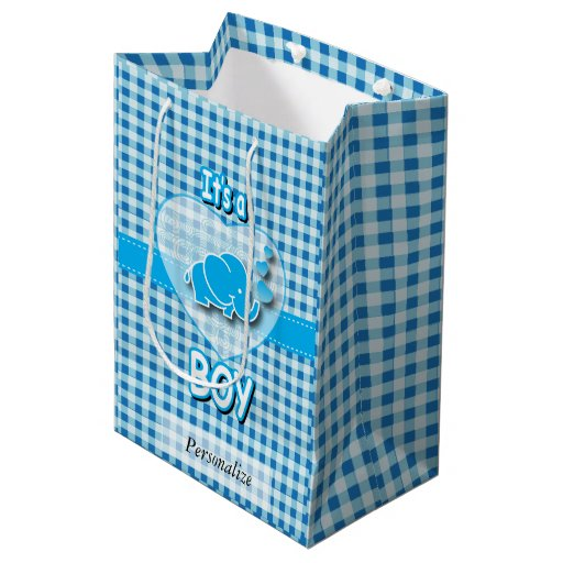 It's A Boy | Baby Elephant Medium Gift Bag
