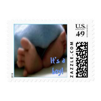 It's a boy! -baby feet postage
