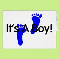 Its A Boy Baby Footprints Card
