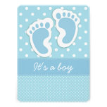 It's a Boy Baby Footprints Personalized Invitation