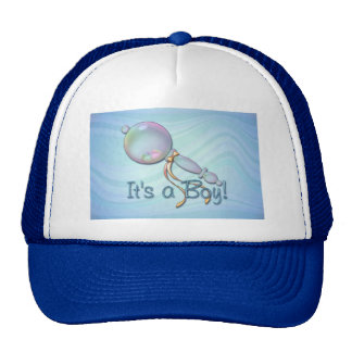 IT'S A BOY BABY RATTLE by SHARON SHARPE Trucker Hat
