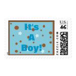 It's A Boy Baby Shower Birth Announcement Stamp