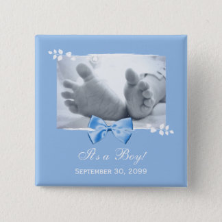 Its a Boy Baby Shower Elegant Birth Announcement Pinback Button