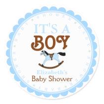 It's A Boy-Baby Shower Favor Classic Round Sticker