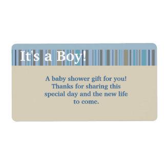 It's a Boy, Baby Shower Favor Labels