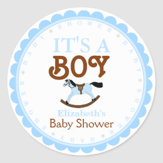It's A Boy-Baby Shower Favor Stickers