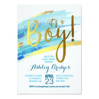 itu0027s a boy baby shower invitation
