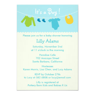 It's A Boy Baby Shower Invitation