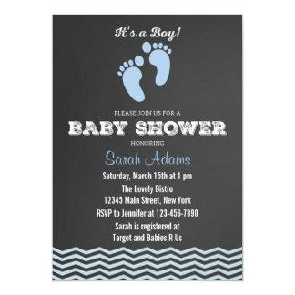 It's A Boy Baby Shower Invitation Chalkboard