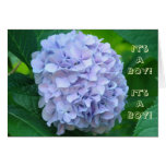 It's a Boy! Baby Shower Invitations Blue Flowers Card