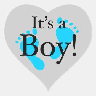 It's a Boy! - Baby-shower Newborn Heart Sticker