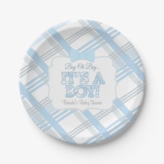 it 39 s a boy baby shower paper plates zazzle