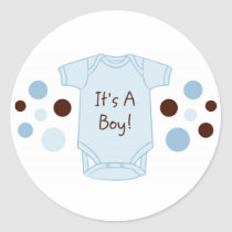 It's A Boy Baby Stickers Envelope Seals