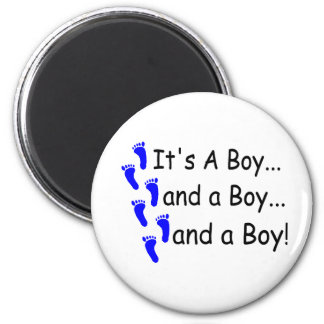 Its A Boy Baby Triplets Magnet