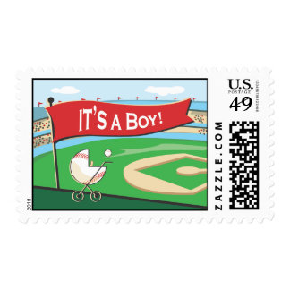 It's a Boy Baseball Announcement Postage Stamp