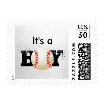 Itu0027s A Boy Baseball Sports Baby Shower Stamps