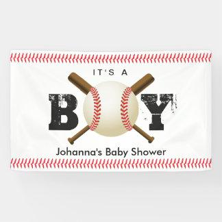 It's a Boy Baseball Stitching Sports Baby Shower Banner