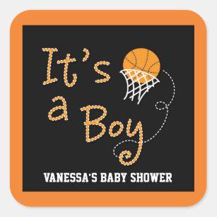 ITu0027S A BOY Basketball Baby Shower Party Sticker