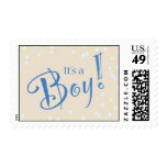 It's a Boy Beige Postage Stamp