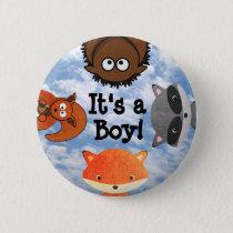 It's a Boy Birth Announcement Button