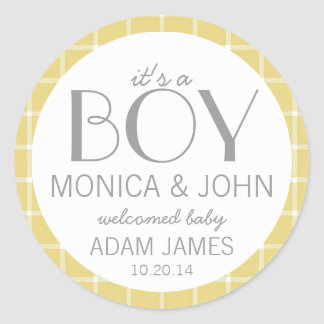 It's a Boy Birth Announcement Envelope Seal