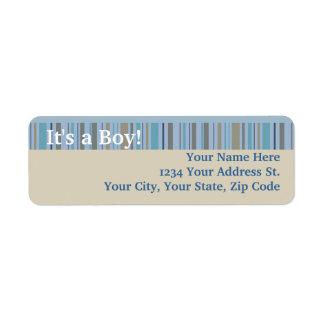 It's a Boy, Birth Announcement or Baby Shower Return Address Label
