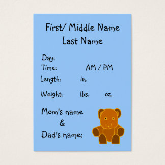 It's A Boy! - birth announcement template Business Card